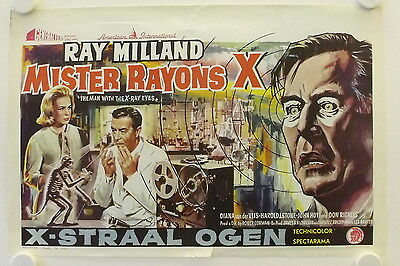 X: The Man with the X-Ray Eyes original release Belgian movie poster