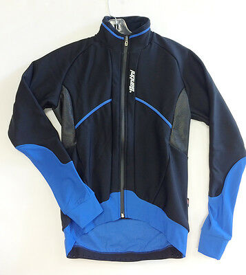 Brigand Winter Windproof Cycling Jacket in Blue Made in Italy by Santini
