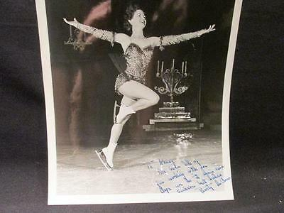 Rusty Lee ? Figure Skater 8 X 10 Professional B&W Autographed Photograph