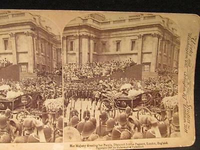 Her Majesty Victoria Greeting Her People Diamond Jubilee Pageant 1897 Stereoview