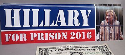 Wholesale Lot Of 20 Hillary Clinton For Prison 2016 Bumper Stickers Decal Jail