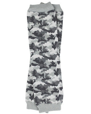 Gray Camouflage Leg Warmers Newborn Infant and Baby Toddler Sizes Boy