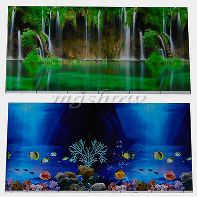 Double Sided Landscape Poster Fish Tank Background Picture Wall Decor Hot Sale