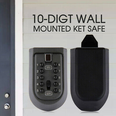 Outdoor Wall Mount Spare Key Safe Box Lock Holder Water Weather Proof