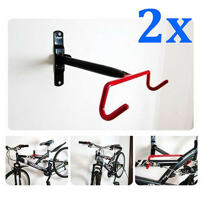 2x Bike Bicycle Storage Stands Rack Wall Mounted Hanger Hook NEW AU