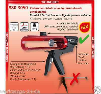 KS TOOLS Caulking gun without standing out Push rod 310 ml Silicone press