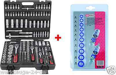 KS TOOLS Socket Set 917.0779 Ratchet box + Socket - magnetic insoles