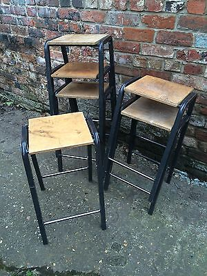6 Vintage School Science Laboratory Lab Stacking Stools Industrial Retro Cool