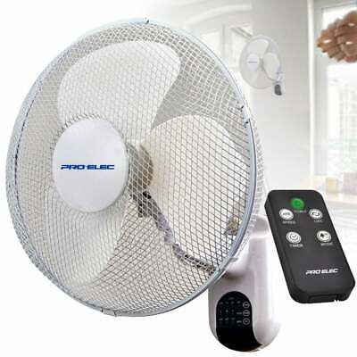 """Prem-I-Air 16"""" (40 cm) Chrome Oscillating Wall Fan with Magnetic Remote Control"""