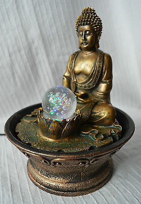 Indoor Thai Buddha Water Feature Fountain with Chainging Colour Lights buddah