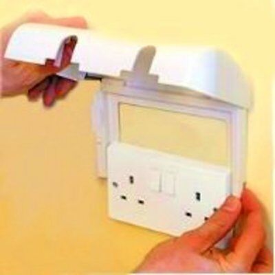 Clippasafe Double Electric Plug Socket Protector Baby Child Safety Cover Safety