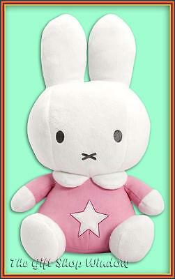 NEW MIFFY SUPER SOFT PLUSH TOY PASTEL PINK BABY GIFT CUTE AS A BUTTON BNWT 25cm