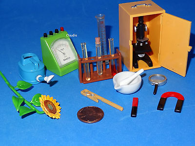 RE-MENT Dollhouse Miniatures Science Chemistry Biology Laboratory w/ MICROSCOPE