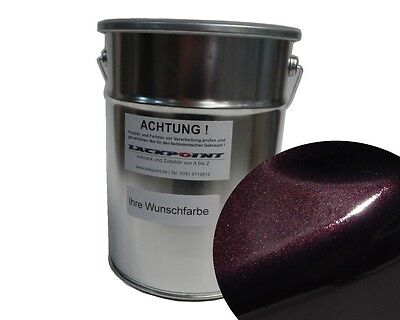 1 L Ready to use Base coat Black Purple Metallic Car paint Lackpoint Tuning VW