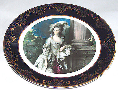 "Weatherby Hanley England Royal Falcon Ware 3-75 Elegant Lady 9"" Round Oval Plate"