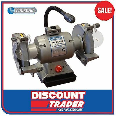 "Linishall BG8 Heavy Duty Bench Grinder 8"" 200mm - BG8-Grinder"