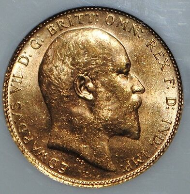 1910 Great Britain Gold Sovereign NGC MS63 Uncirculated BU Coin UK King Edward