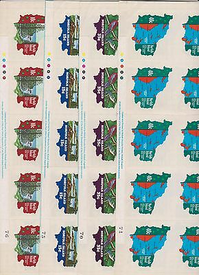 1974 Norfolk Island, SG 158/61 Set of Four in sheets of 20, UPU Centenary