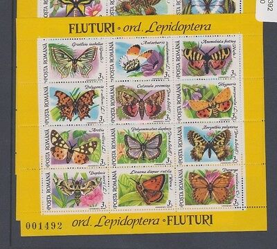 1991 Romania Butterflies SG 5392, Mint Never Hinged, Miniature Sheet
