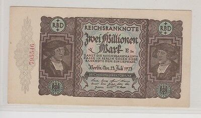 1923 Germany, Two Million Mark Reichsbanknote, Cuhaj 89, Very Fine
