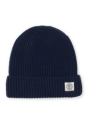Polo Ralph Lauren Men's Solid Beanie Ski Rib Knit Winter Cap Hat Navy New Nwt