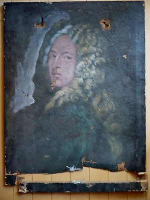 ** 19th CENTURY ANTIQUE OLD PORTRAIT WASHINGTON JEFFERSON ERA RESTORATION NEEDED