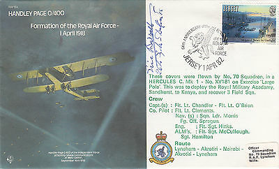 B4 64th Anniv of the Formation of RAF Signed  E G Barwell Battle of Britain Pilo