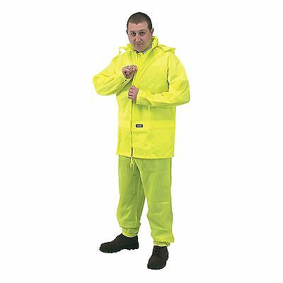 Draper Expert Xl High Visibility 2 Piece Unisex Rain Suit, One Size 25915