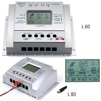 LCD 60A 80A MPPT Solar Panel Battery Charge Discharge Controller Regulator MT