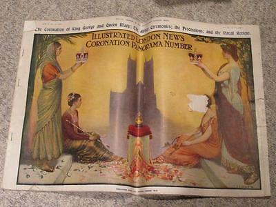Coronation Panorama Issue 1911 King George V Illustrated London News #3766A