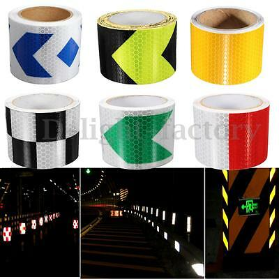 3/5m Reflective Safety Warning Security Conspicuity Tape Roll Film Sticker Cars