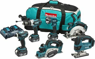MAKITA DLX6012PM 18V 4Ah 6Pc Kit With Dual Port Charger