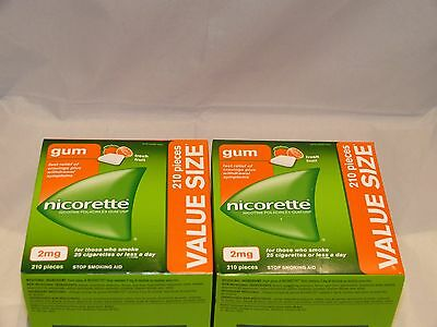 Nicorette Gum 2 Mg Fresh Fruit 420 Piece Value Size