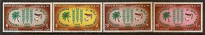 Kuwait 1963 Freedom From Hunger Sc # 193-196 Mvlh