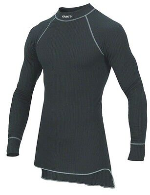 Craft Active Long Sleeve Crew Base Layer Top: Black Small