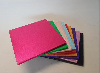 CAKE DRUM BOARDS 'SQUARE' 12mm Thick - TOP QUALITY - Many Colours Available