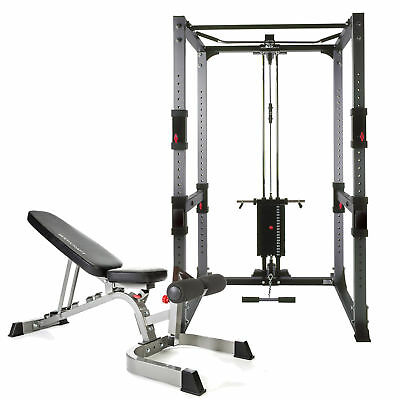 Bodycraft F430 Power Rack, Bench and LatLow Pulley