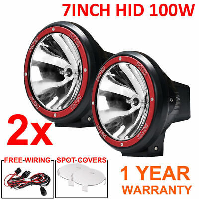 2X 7INCH New HID 100W Driving Light Spot Offroad Lamp Car Truck Xenon Lights AU