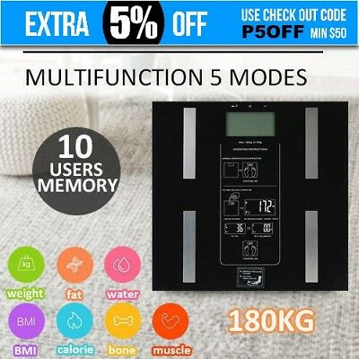 AU Digital Body Fat Scale Bathroom Muscle Weight LCD Display Electronic Water