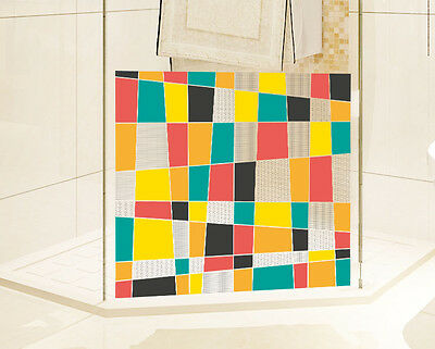 Multi-Color Lattice Window Glass Film Frosted Privacy Bedroom Bathroom Stickers