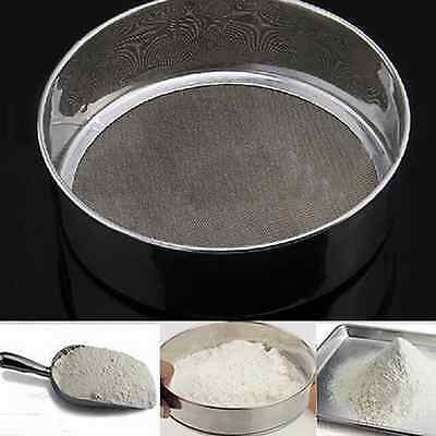 Stainless Steel Mesh Flour Sifting Sifter Sieve Strainer Cake Baking Kitchen C5