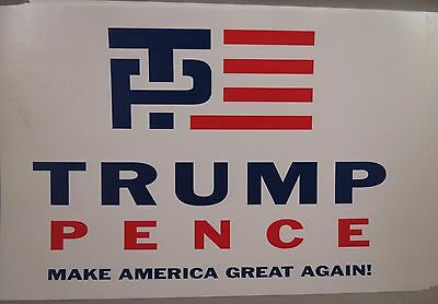 WHOLESALE LOT OF 20 TRUMP PENCE TP MAKE AMERICA GREAT AGAIN STICKERS President