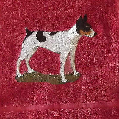 Rat terrier Dog Embroidered Towels