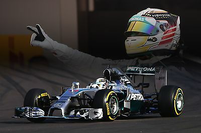 Lewis Hamilton 30x20 Inch Canvas Mercedes Framed Picture Formula One Poster