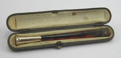 Vintage Art Deco 9ct gold mounted cheroot cigarette holder in fitted case