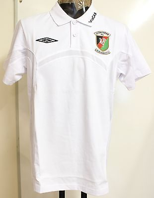 Glentoran White Bench Cotton Football Polo By Umbro Adults Size Medium Brand New