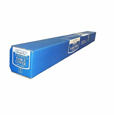 "Daily Chef Table Cover Roll 40"" x 300' Waterproof Plastic Easily Cut To Fit"