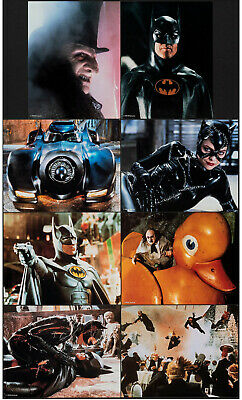 BATMAN RETURNS original 1992 lobby card set MICHAEL KEATON/MICHELLE PFEIFFER