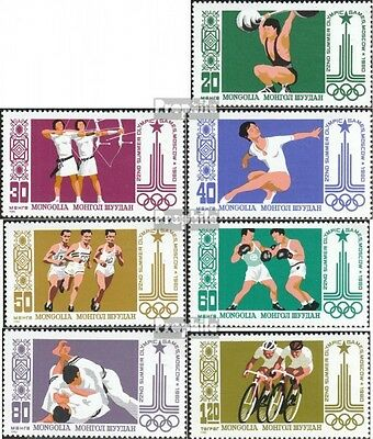 Mongolia 1287-1293 (complete.issue.) unmounted mint / never hinged 1980 Olympics