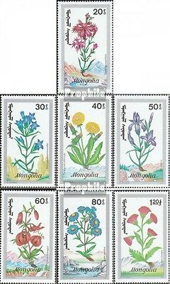 Mongolia 2198-2204 (complete.issue.) unmounted mint / never hinged 1991 Bergflor